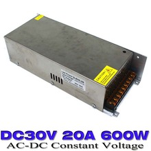 Switching Power Supply DC 30V 20A 600w Led Driver Transformer AC110V 220V to DC30V Power Adapter for strip lamp CNC CCTV Motor