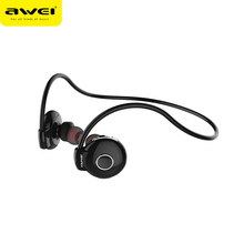 Awei Blutooth Sport Cordless Wireless Headphone In-Ear Auriculares Bluetooth Earphone For Your In Ear Phone Bud Headset Earbud(China)