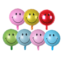 New style Air balls Helium foil Balloons smiling face balloons Smile Happy Birthday Decorations wedding Market activity decorate(China)