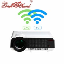 4.4 Android&WIFI Full HD LED Daytime 3D Smart Projector 5500Lumen Proyector Projector Beamer LED86 Home Cinema Wireless Phone(China)
