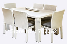 2017 Top Sale White Outdoor Furniture Rattan Table And Chair(China)