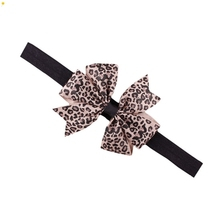 New Fashion Lovely Sweet Children's Elastic Force Hair Band Princess Baby Girl Round Dot Bowknot Leopard Hairband June9
