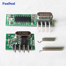 New RF Module 433 Mhz Superheterodyne Receiver And Transmitter Kits With Antenna For Arduino Uno Diy Kits 433mhz Remote Controls