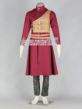 Anime Naruto Cosplay Gaara 7th Cosplay Costumes Men Halloween Costume for Party(China)