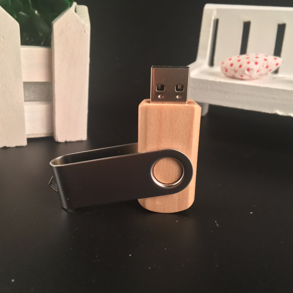 ODM OEM Custom Wedding Photography Encord LOGO Wooden Clip + Box USB 2.0 Version memory flash stick pen drive A0001 3