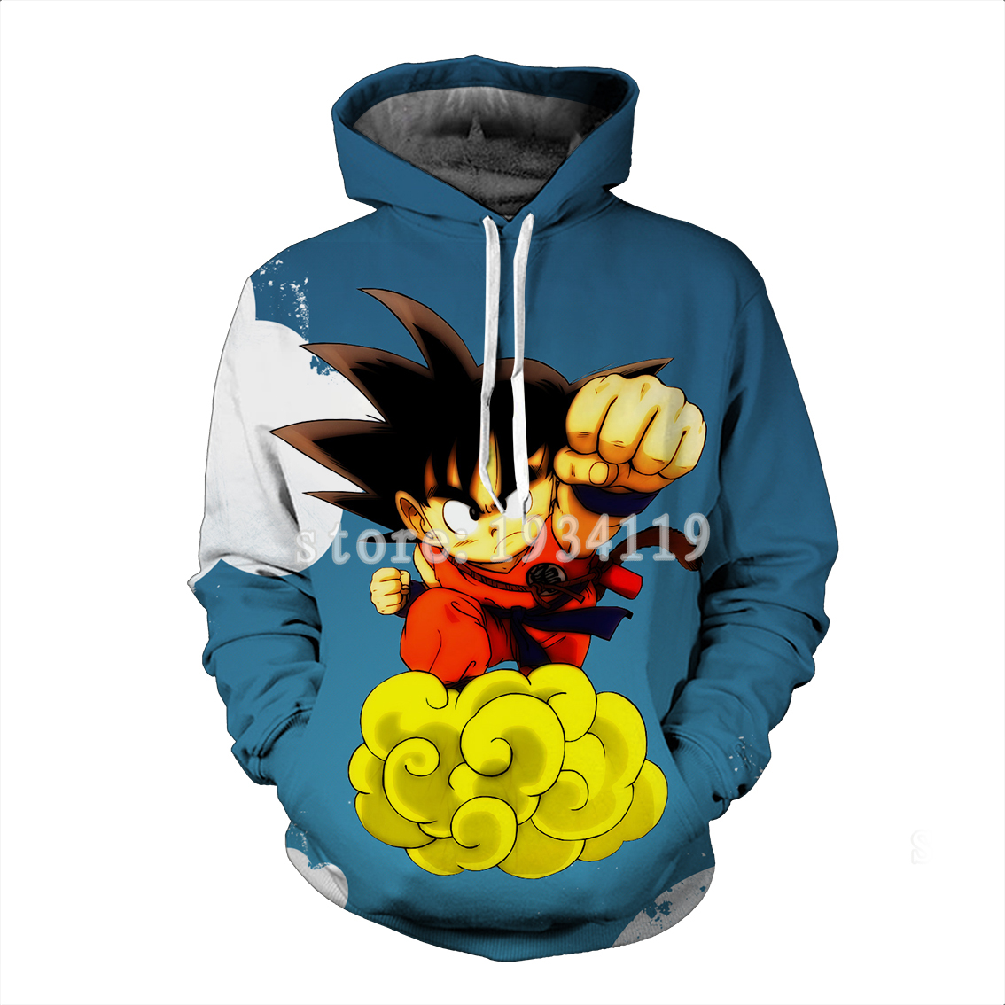Dragon Ball Z Hoodies 3d Hoodies Pullovers Sportswear Hooded Sweatshirts  Mens Sleeve  Son Goku Hoode Dragon Ball Z Vegetto blue