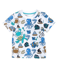 Retail BRAND 2017 new come 100% cotton t shirt for baby boys childrens chothes blouse summer t-shirts tee car Designer Cotton(China)