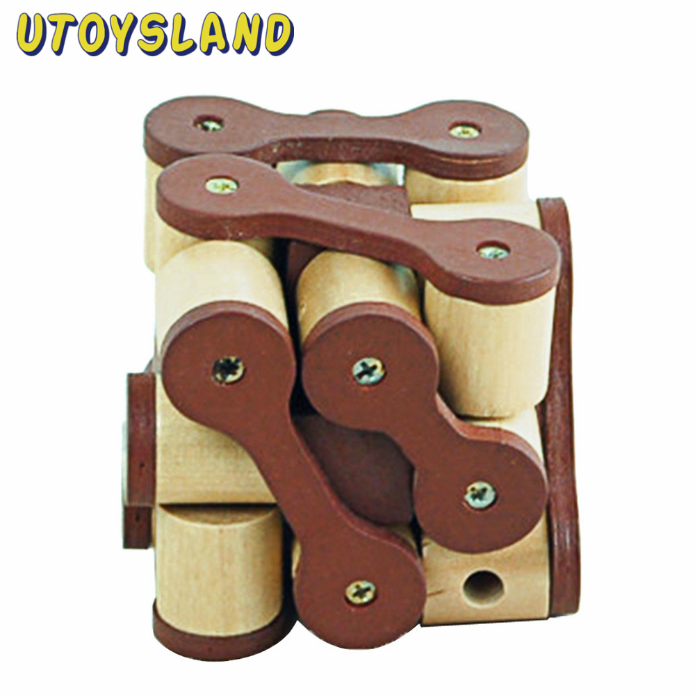 UTOYSLAND Brain Training Toy Intricate Chain Reaction Kong Ming Lock Luban Lock Wooden  Educational Toy for Adult Children<br><br>Aliexpress