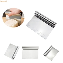 Saingace Pastry cutter Stainless Steel Pizza Dough Scraper Cutter Kitchen Flour Pastry Cake Tool u70328 DROP SHIP
