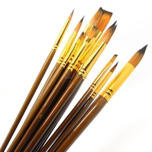 12Pcs Fine Paint Brushes For Acrylic Painter Artists Sizes Brush Painting Set JUN13(China)