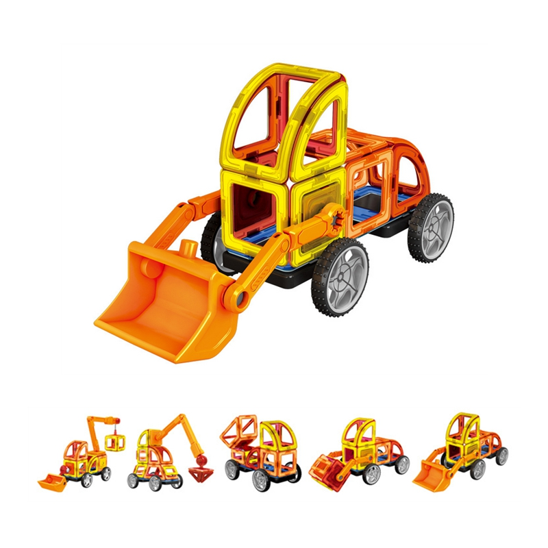 60pcs Car Magnetic Building Blocks Diy Magnetic Construction Blocks Toys For Kids 3d Magnetic Designer Educational Bricks<br>