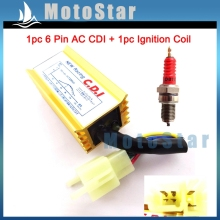 ATV Gold Racing 6 Pin AC Ignition CDI Red D8TC Spark Plug For CG 125cc 150cc 200cc 250cc Engine Pit Dirt Motor Bike Quad