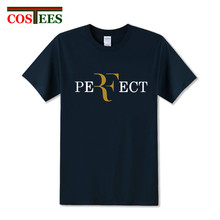 2017 fashion Roger Federer perfect T Shirt men 100% Cotton Short Sleeve T-shirts Apparel Man tshirt roger federer brand clothing(China)