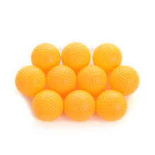 10Pcs Hot Sale Yellow Plastic Golf Balls Golf Practice Training Balls Training Aid Outdoor sports Wholesale(China)
