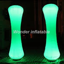 Outdoor color-changing LED lighting decoration inflatable pillar inflatable column with base blower for party events