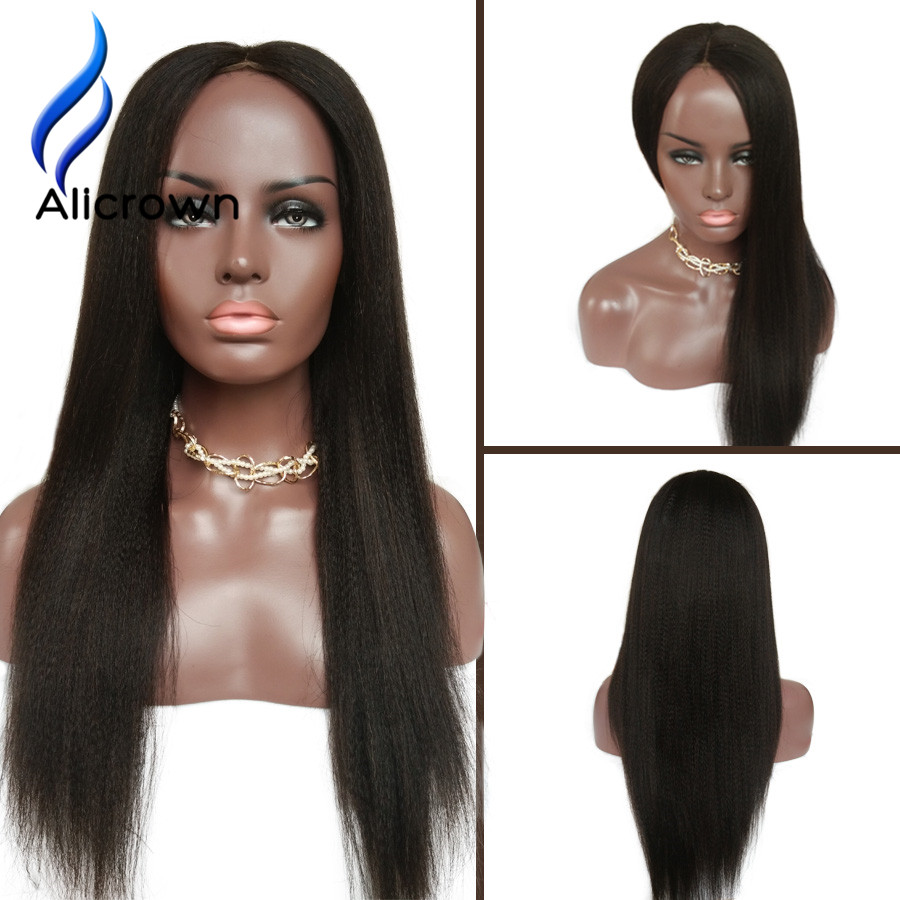 Italian Yaki Full Lace Wig Human Hair With Baby Hair Lace Front Human Hair Wigs For Black Women U Part Human Hair Wigs Lace Wig<br><br>Aliexpress