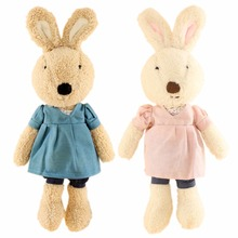 JESONN Stuffed Bunnies Toys Animals Dressed Plush Easter Rabbits for Children's Gifts(China)