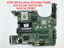 High quality laptop motherboard for HP Pavilion DV6000 Compaq V6000 945GM DDR2 434723-001 434725-001 100% Fully tested&Working