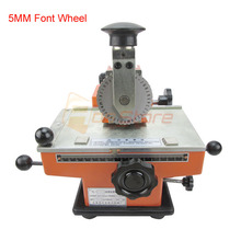 5MM Manual Sheet Embosser Metal Stainless Steel Stamping Printer Dog Tag Embossing Nameplate Marking Equipment Labels Tools