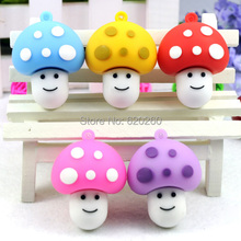 Free shipping! 64gb pen drive, mushroom usb flash drive cartoon usb flash drive fashion personality girlfriend gifts 32GB, 16GB