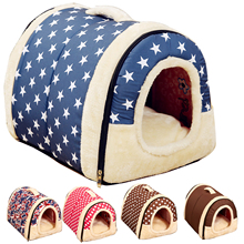Multifuctional Dog House Nest With Mat Foldable Pet Dog Bed Cat Bed House For Small Medium Dogs Travel Pet Bed Bag Product(China)