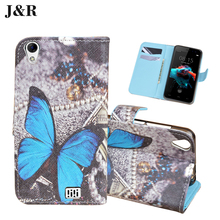 Doogee HOMTOM HT16 Leather Cover Flip Case 5.0 inch Wallet J&R Cute Painting Stand Mobile Phone Bags - Fashion Supermarket store