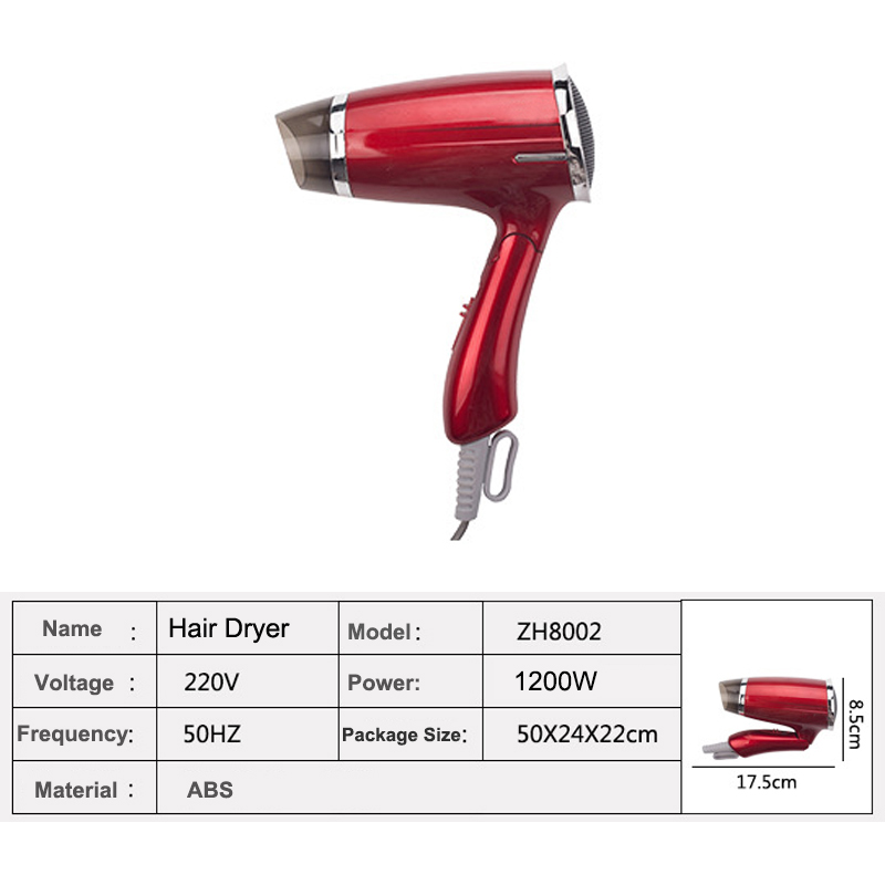 Hair Dryer Foldable Bandle Blow Salon Equipment Low Noise Powerful Blower Dryer HotCold Air Suszarka Hair Professional Styling (6)