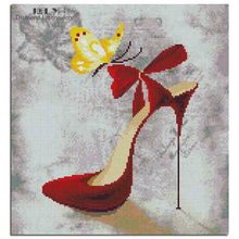 [ July Refinement ] diamond painting cross stitch High-heeled shoes diamond embroidery full and square mosaic 35*38 cm