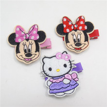 15pcs/lot Beautiful Dot Cartoon Mouse Sweet Kitty Hair Clip Red Pink Girl Animal Novelty Hairpin Birthday Party Favor Barrette(China)