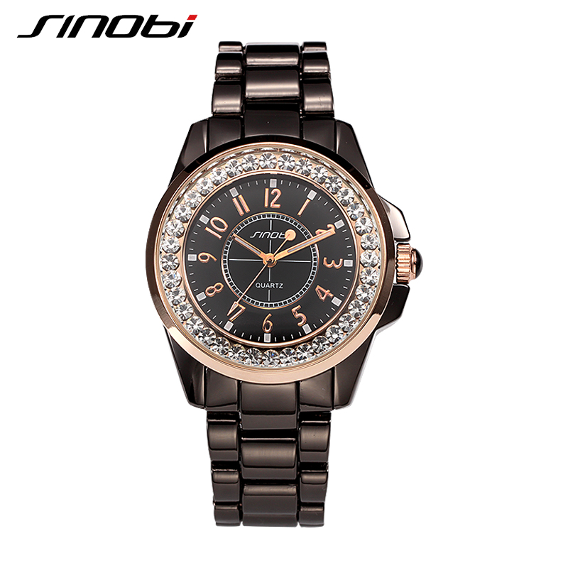 SINOBI Lovers Watches Casual Analog Stainless Steel Women and Men Watch Business Luxury 2017 New Design Quartz Couples Watches<br><br>Aliexpress