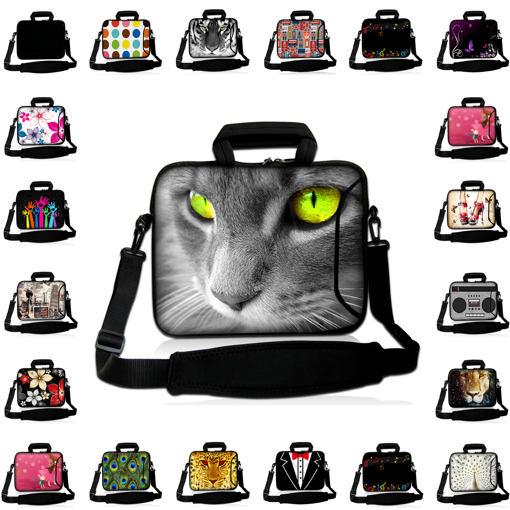 Double Zippers Design 14 14.4 14.1 14.2 inch Shoulder Strap Messenger Computer Laptop Bags For Acer Toshiba Sleeve Laptop Cases<br><br>Aliexpress