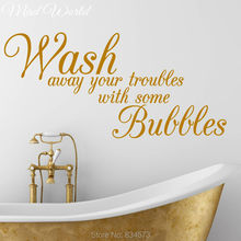 Mad World-Wash Away Your Troubles Bubbles Wall Art Stickers Decal Home DIY Decoration Decor Wall Mural Removable Wall Stickers