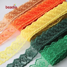 2017 New 40mm 10 Yards Embroidery Lace Ribbon Trim Fabric DIY Choker Bracelet Sew Clothes Dress Wedding Party Decora Accessories(China)