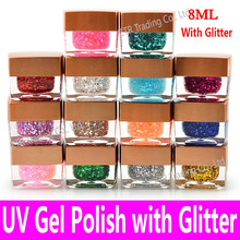 UV Gel Polish with Glitter Soak Off High Quality Cheap China Brand Long Lasting Glaze Dries any UV Lamp or LED Light Resin Tools