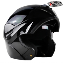 2017 New Flip Up Racing helmet Modular Dual lens Motorcycle Helmet full face Safe helmets Casco capacete casque moto S M L XL