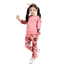 2016 Regular Promotion Casual O-neck Spiderman Girls Kids Children's Wear Sports Suit Two Pieces Long Sleeve T-shirt And Pants