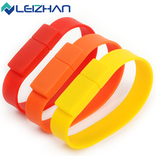 High Speed USB Silicone Bracelet Wrist Band 4GB 8GB 16GB 32GB 64DB USB 2.0 USB Flash Drive Pen Drive Stick U Disk Pendrives gift