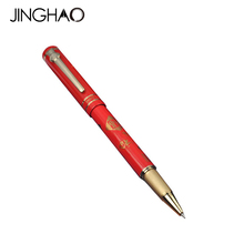 High-end Gift Stationery Golden Clip Rollerball Pen Duke M06 Chinese FU Red Gift Pens with an Original Gift Box 0.5mm Black Ink(China)