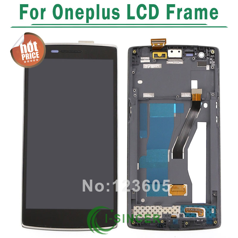 1/PCS For oneplus 1+ LCD screen Display Touch Screen Digitizer Assembly with frame black colour<br>