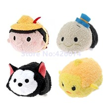 New Tsum Tsum Pinocchio Figaro Cat Jiminy Cricket Creo Smartphone Cleaner Plush Kids Stuffed Animals Toys Children Gifts(China)