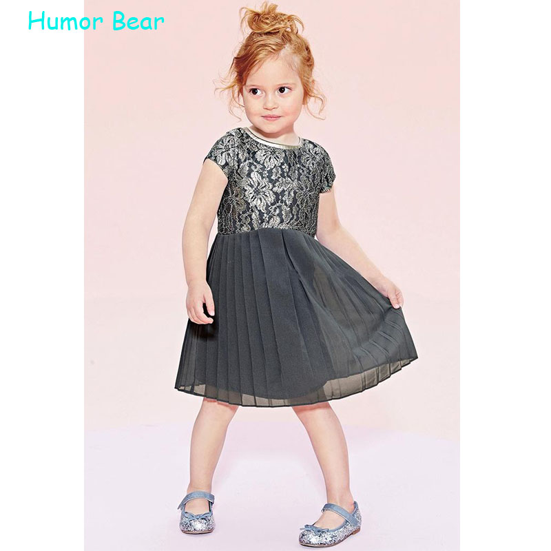 Humor Bear 2016 bowknot Baby Girl Toddler Lace Clothing  Dress  girls clothes Princess Dress Childrens Dresses kids Clothing<br><br>Aliexpress