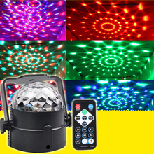 LED RGB Magic Ball Crystal Effect DJ Club Party Christmas Stage Laser Projector Light with Remote Control #LO