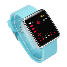 New Top BrandWomen Mens Digital Red LED Sports Watch Binary Wristwatch Silicone #200717 Free Shipping Wholesale Price