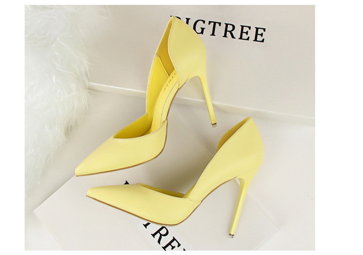 Women Pumps Fashion High Heels Shoes Black Pink Yellow Shoes Women bridal Wedding Shoes Ladies 22