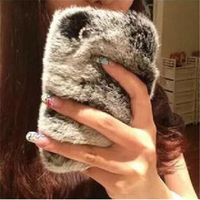 Luxury Plush Back Cover case Warm Winter Fluffy phone cases For iPhone 5s 5 6 6 plus 7 plus Fur Ball Hair Soft Skin Back Case