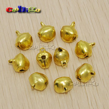 1000pcs/Pack 11mm Gold JINGLE BELLS Beads Christmas Craft Bell For Tree Cat Collar(China)