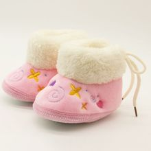 Winter Warm Baby Shoes Soft Bottom Anti-slip Boots First Walkers Newborn Boys Girls Footwear 2017(China)