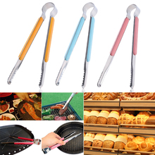 Cooking Kitchen Tongs Stainless Steel Tool Food BBQ Salad Bacon Steak Anti Heat Bread Clip Pastry Clamp Barbecue Tongs 3 Size(China)