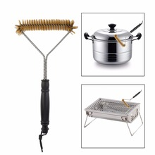 2017 Practical Design Household Bathroom Barbecue Rust Cleaning Wire Brush Outdoor BBQ Grill Oven Cooking Tools