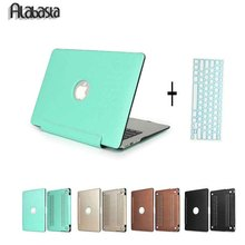 Newest Alabasta Matte Mint Green Folio PU Leather Laptop Case Cover For Macbook Air 13 11 Retina Pro 13 15 Sleeve + Gift